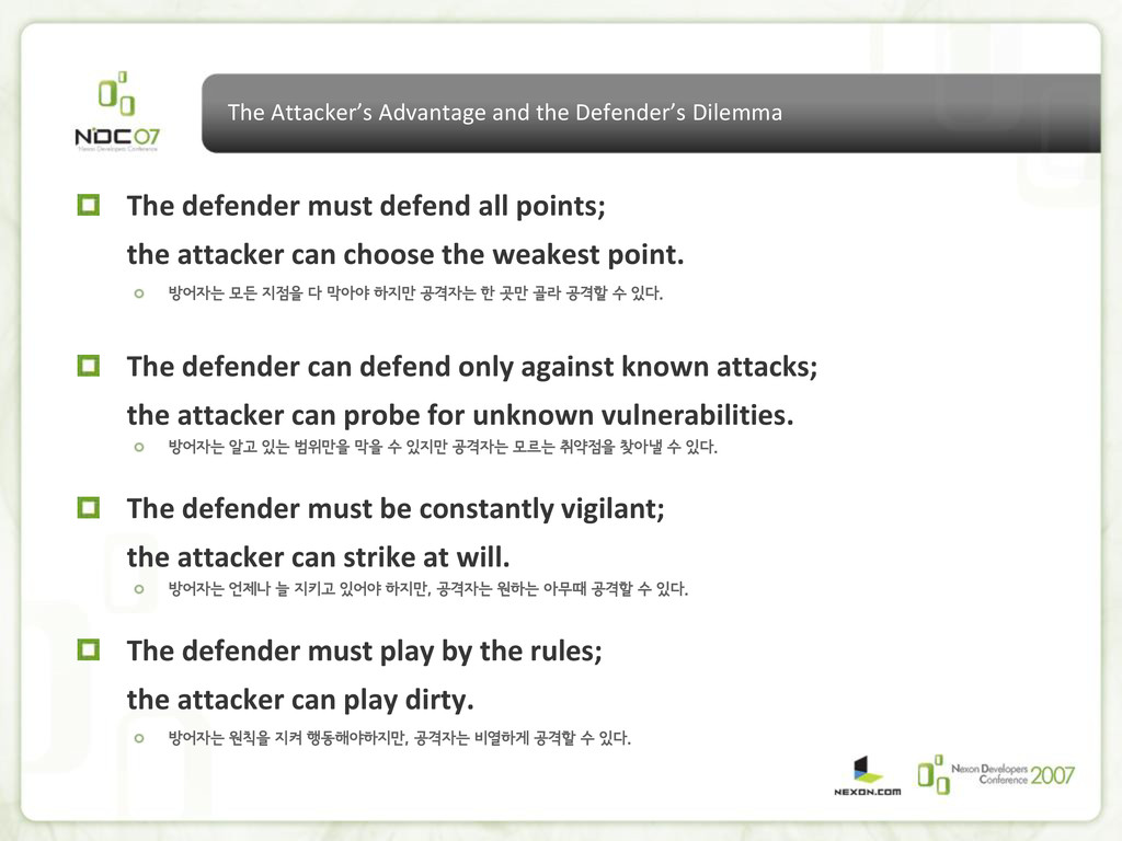 The Attacker's Advantage and the Defender's Dil...