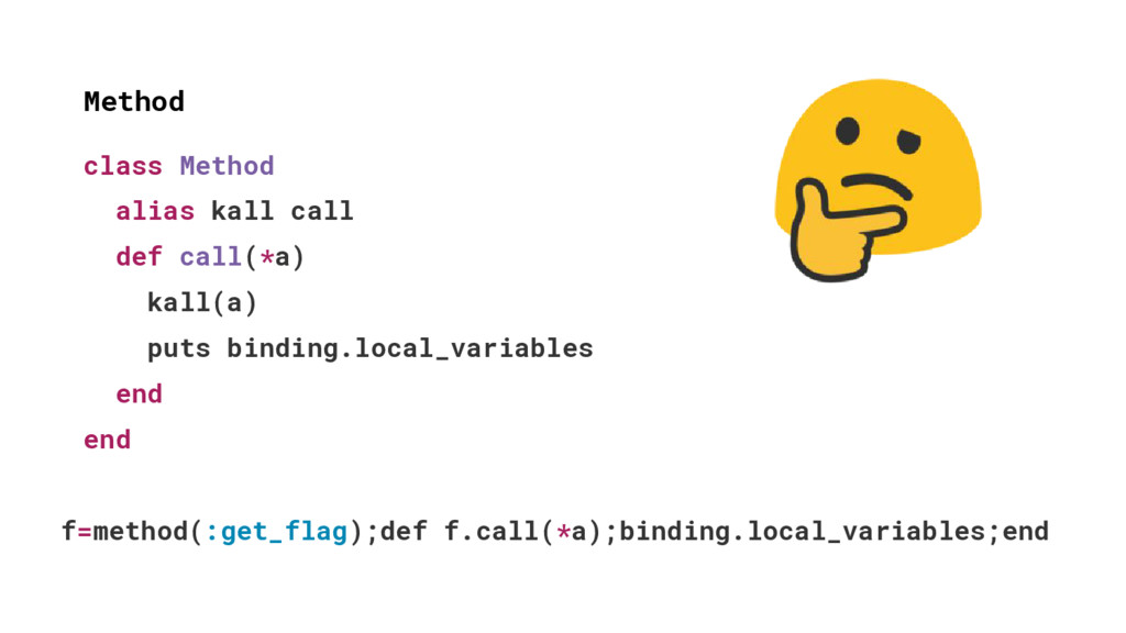 class Method alias kall call def call(*a) kall(...