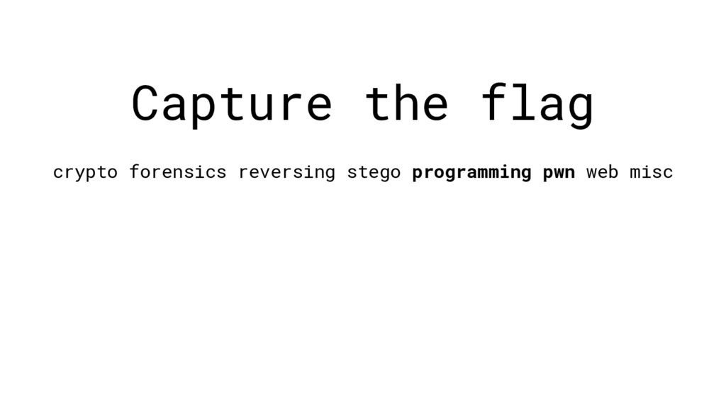 Capture the flag crypto forensics reversing ste...