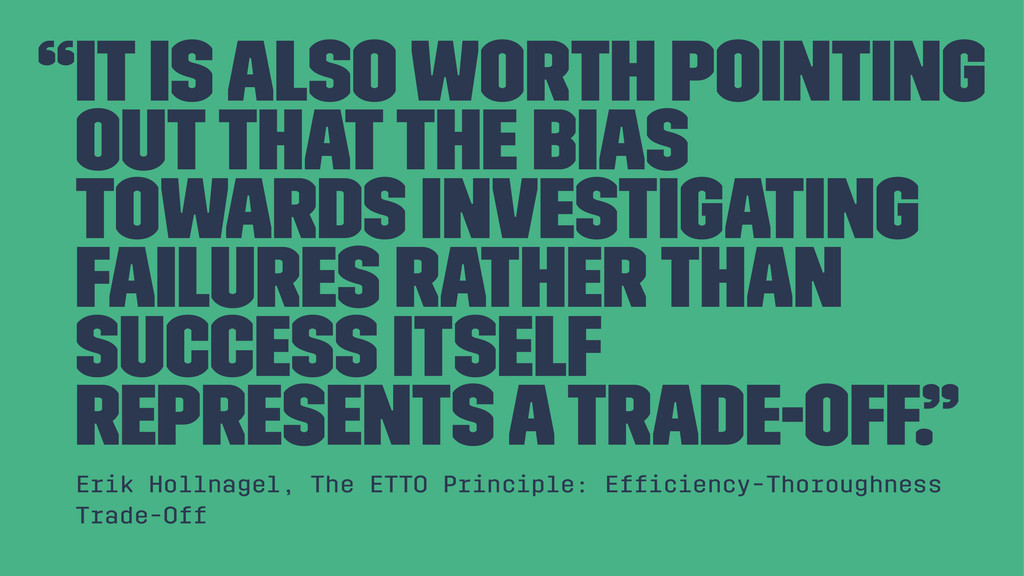 """""""It is also worth pointing out that the bias to..."""