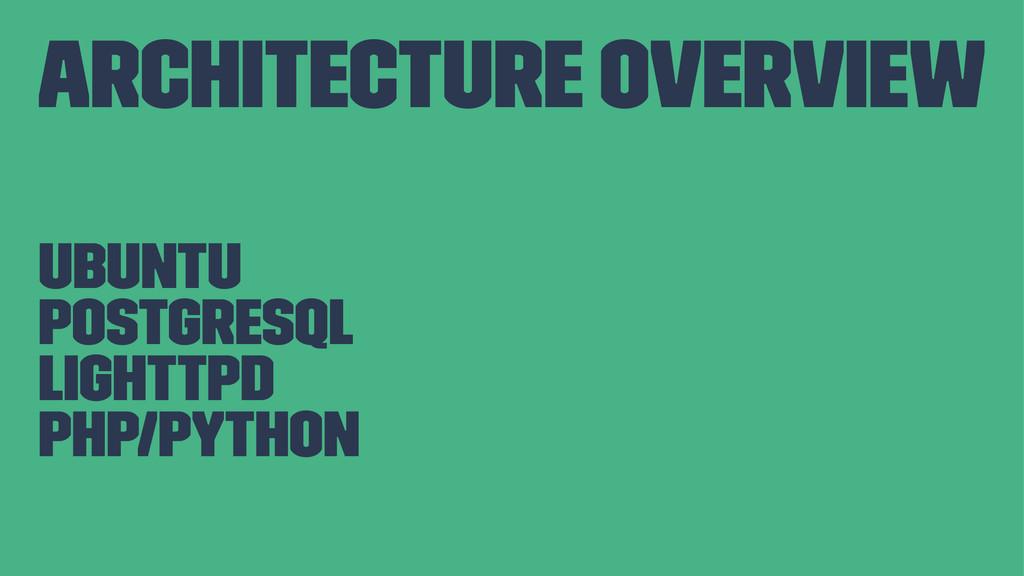 Architecture Overview Ubuntu Postgresql Lighttp...