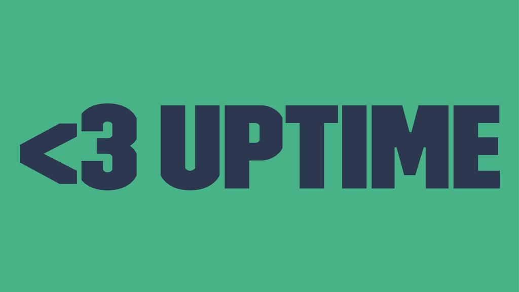 <3 uptime