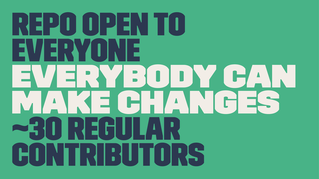 repo open to everyone everybody can make change...