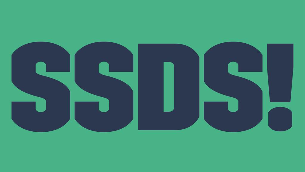 SSDs!