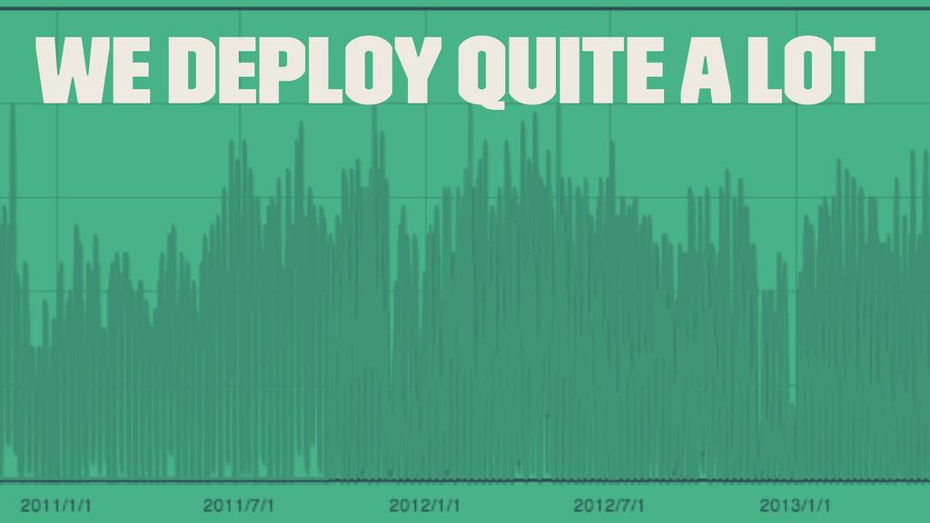 We deploy quite a lot