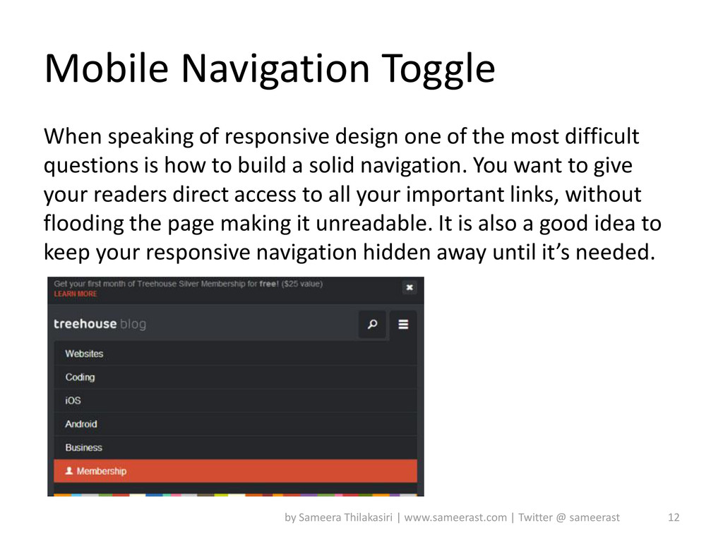 Mobile Navigation Toggle When speaking of respo...