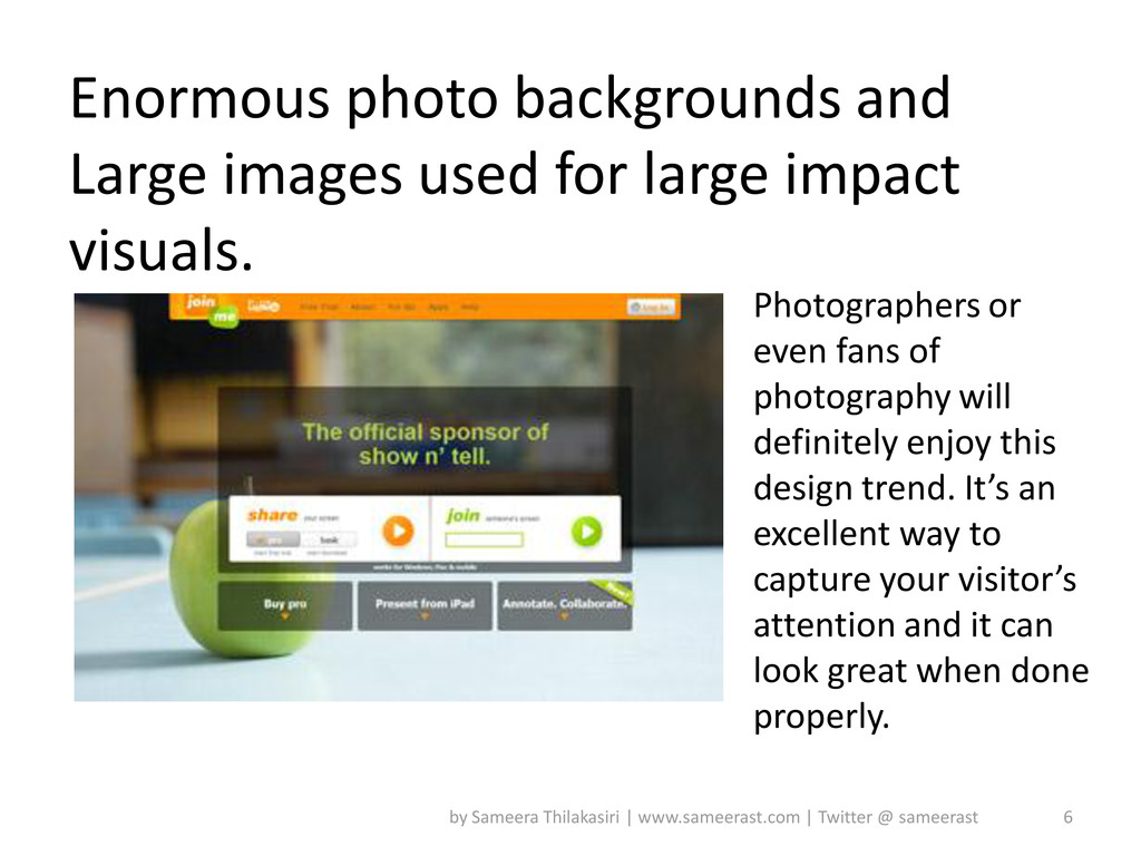 Enormous photo backgrounds and Large images use...