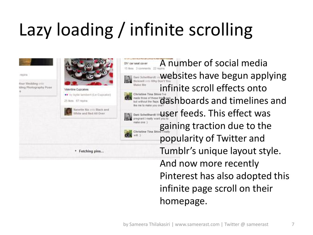Lazy loading / infinite scrolling 7 by Sameera ...
