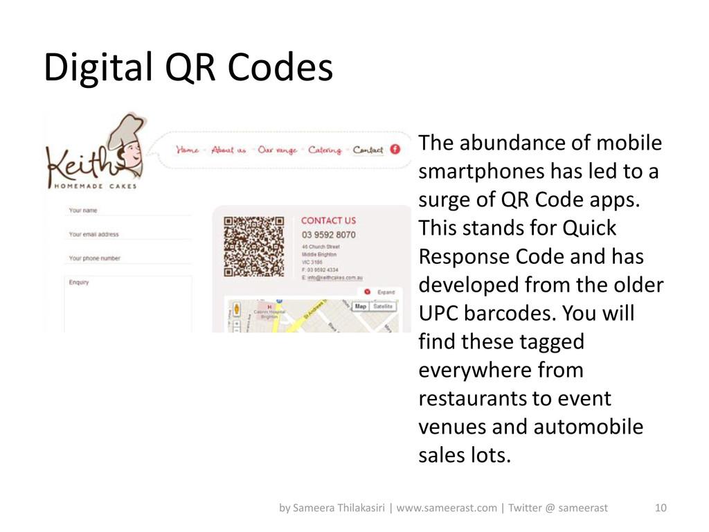 Digital QR Codes The abundance of mobile smartp...