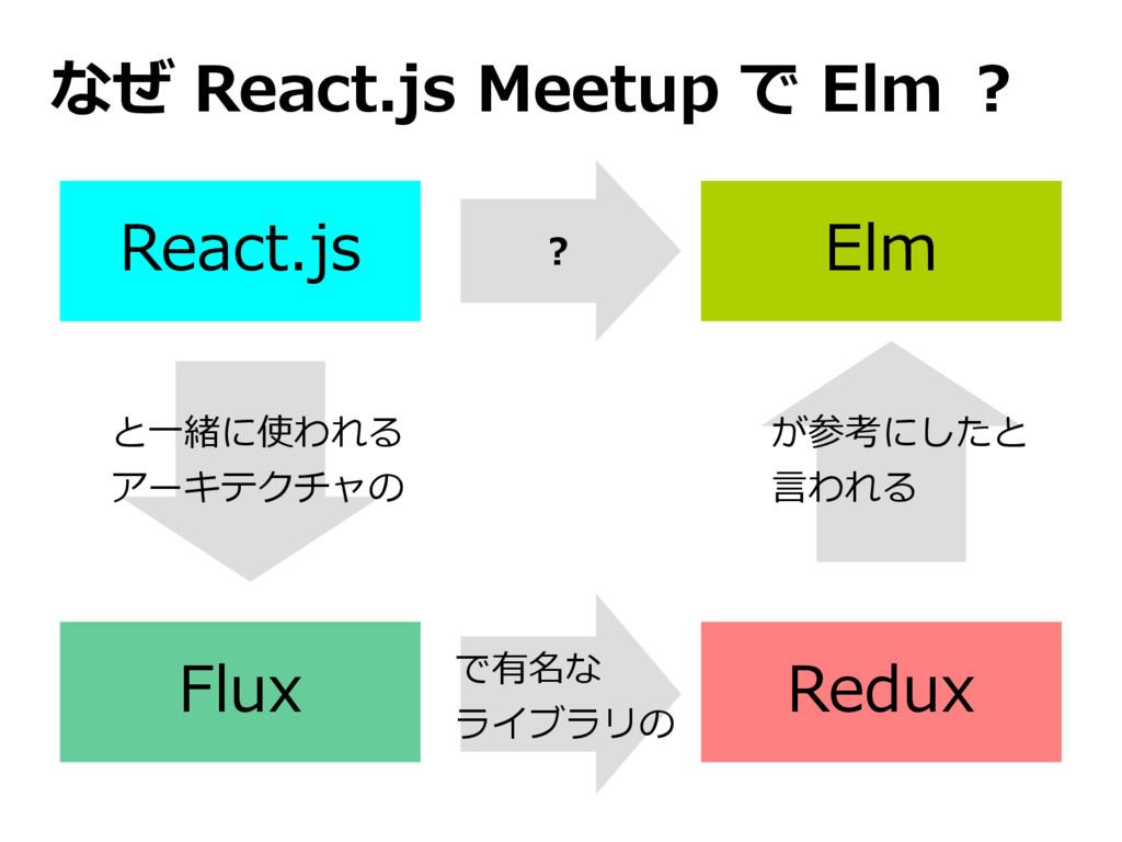 React.js Flux Elm Redux と一緒に使われる アーキテクチャの で有名な ...