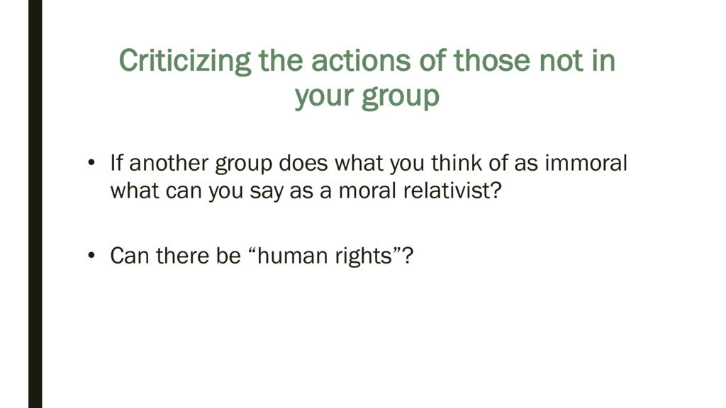 Criticizing the actions of those not in your gr...