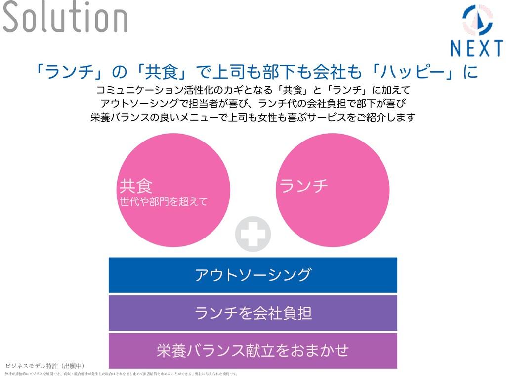 Solution Ξτιʔγϯά ϥϯνΛձࣾෛ୲ ӫཆόϥϯεݙཱΛ͓·͔ͤ ʮϥϯνʯͷ...