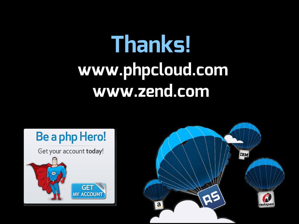Thanks! www.phpcloud.com www.zend.com