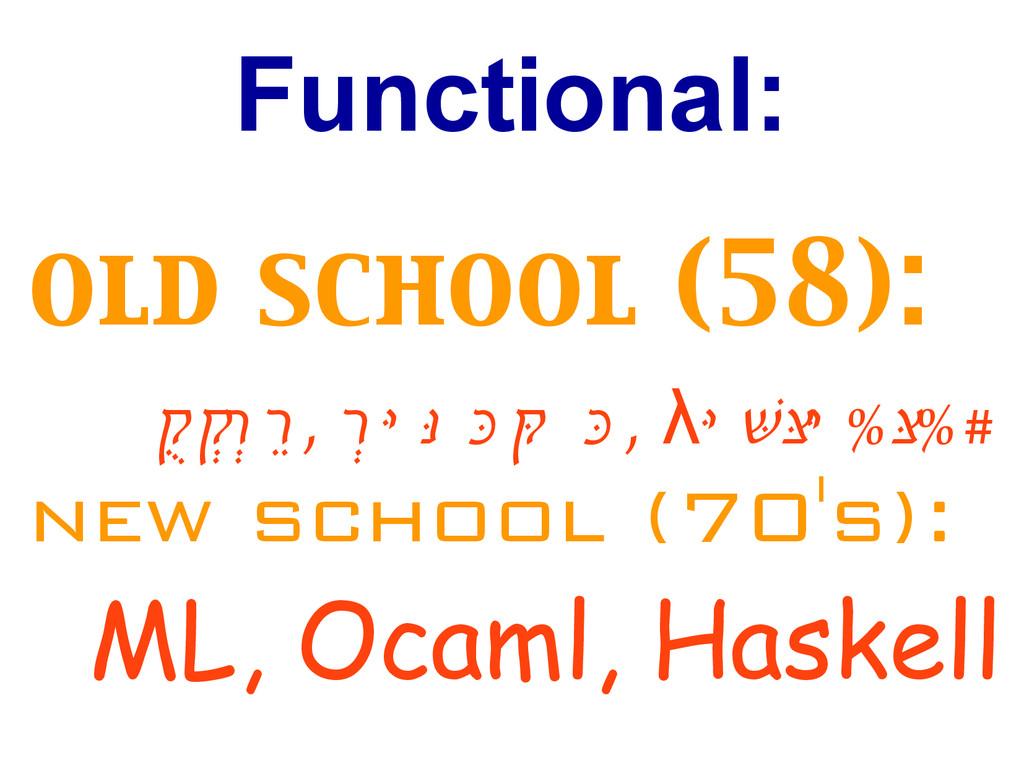 Functional: old school (58): LIS P , S c h e m ...