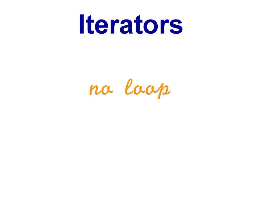 Iterators no loop