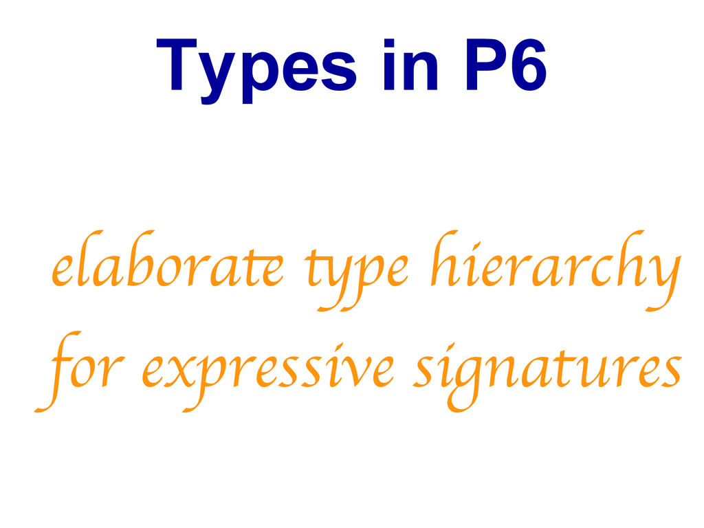 Types in P6 elaborat tpe hierarchy for expressi...