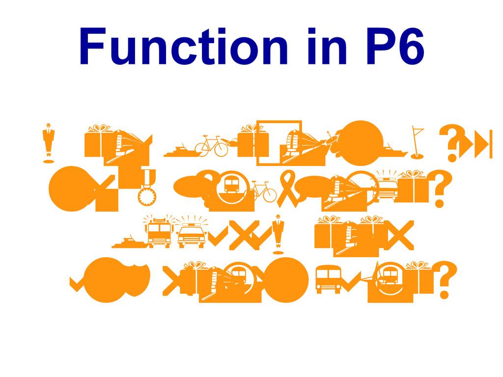 Function in P6 m e t a o b j e c t k n o w s : ...