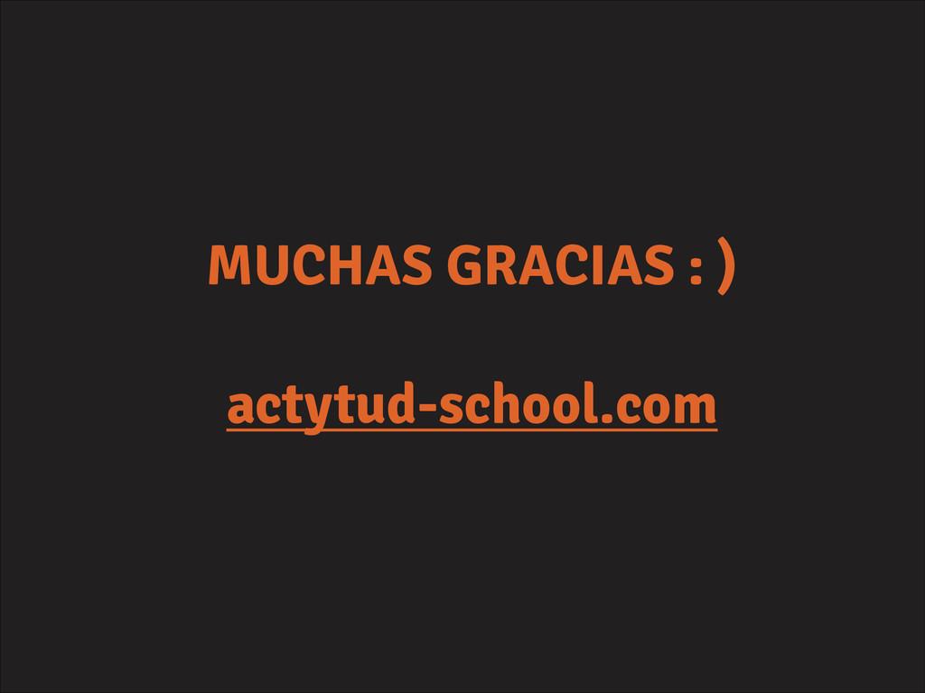 MUCHAS GRACIAS : ) ! actytud-school.com