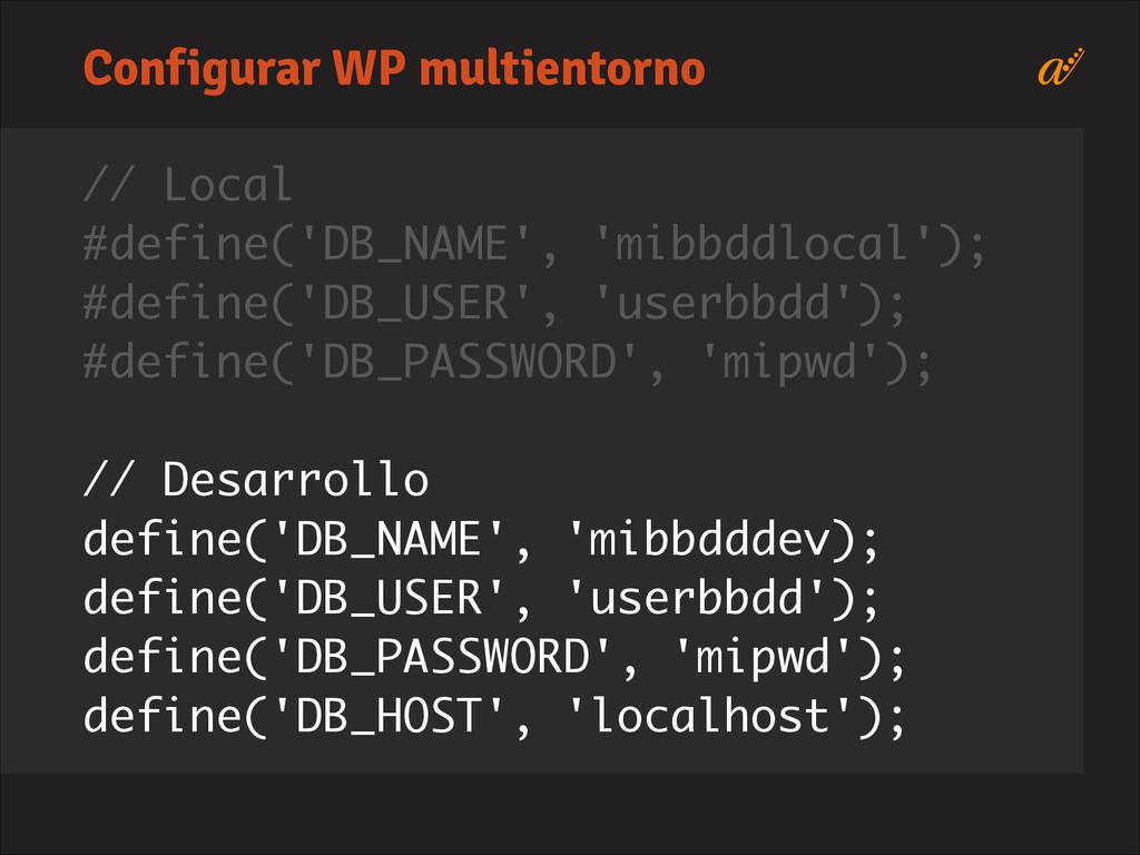 // Local #define('DB_NAME', 'mibbddlocal'); #de...