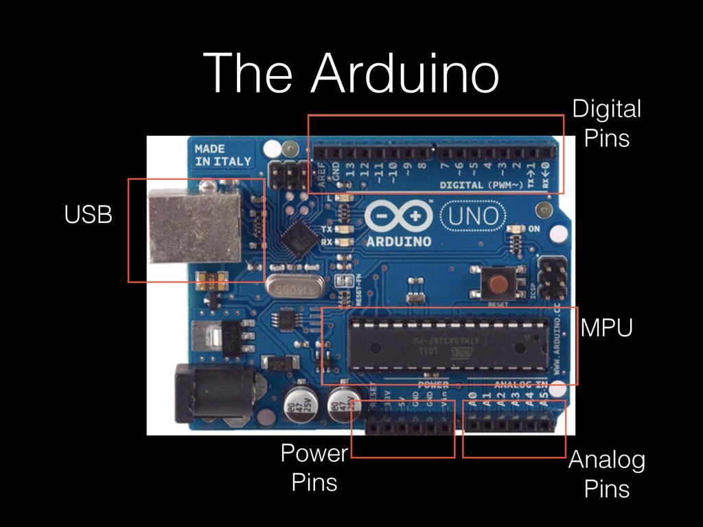 The Arduino MPU Digital Pins Analog Pins USB Po...