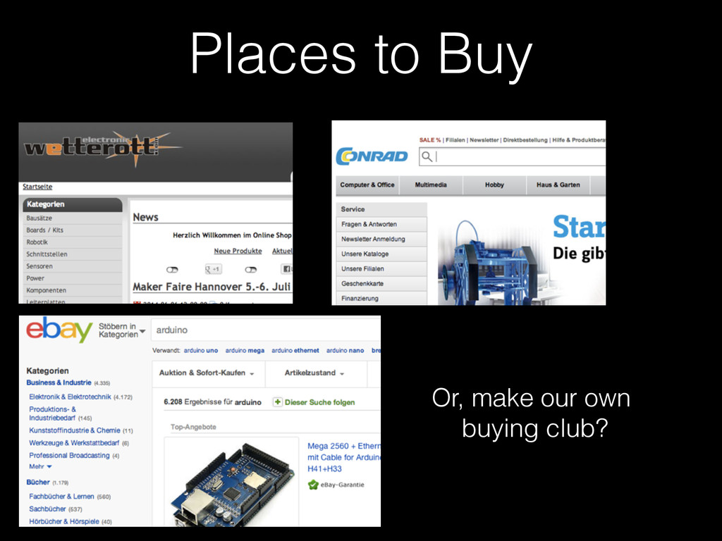 Places to Buy Or, make our own buying club?