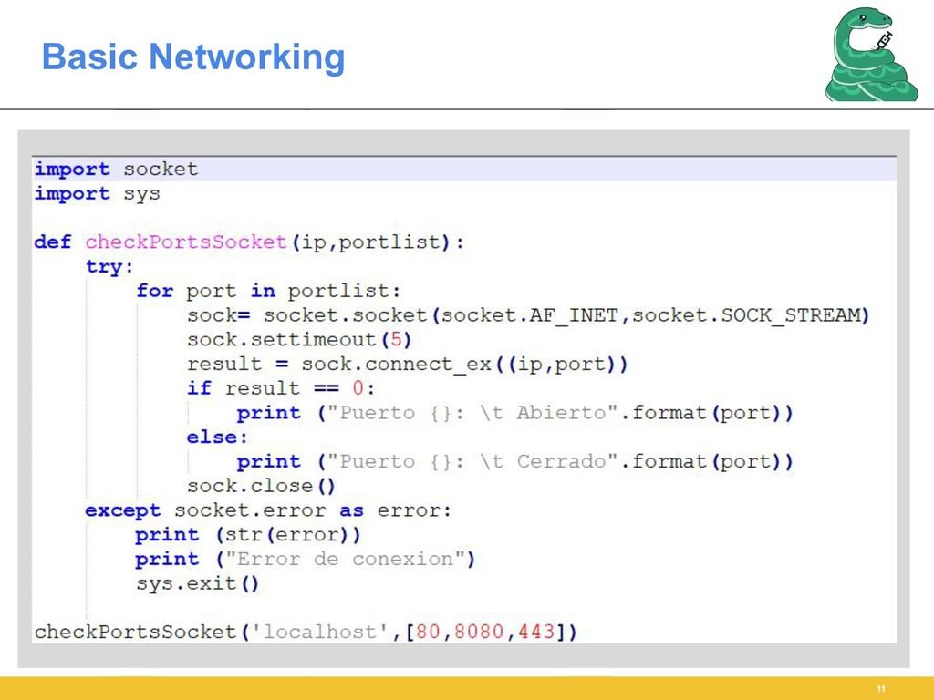 Basic Networking 11