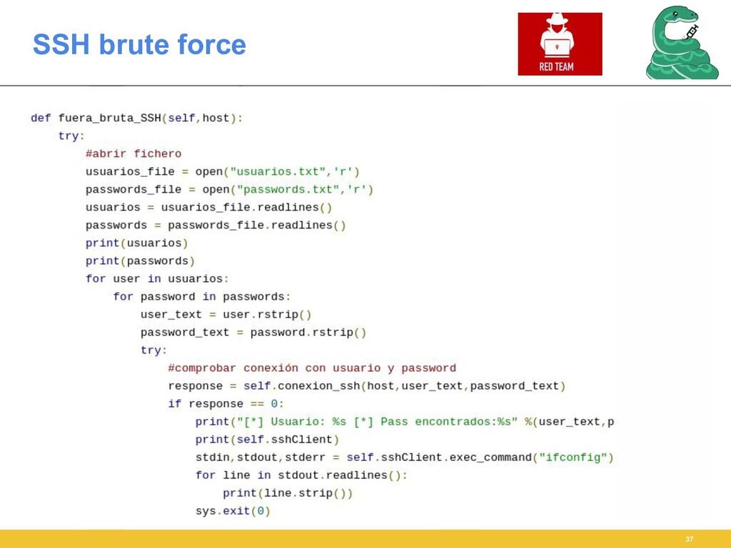SSH brute force 37
