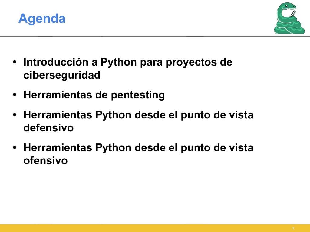 Agenda • Introducción a Python para proyectos d...