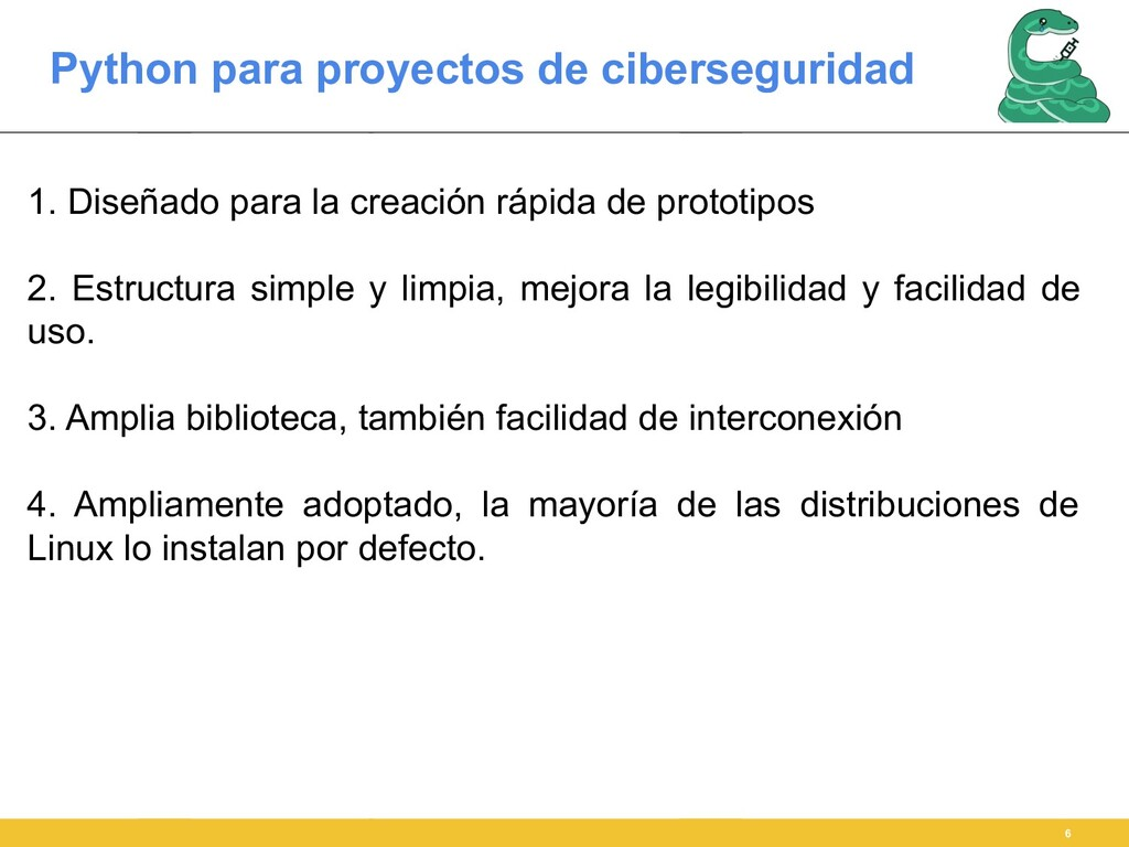 Python para proyectos de ciberseguridad 6 1. Di...