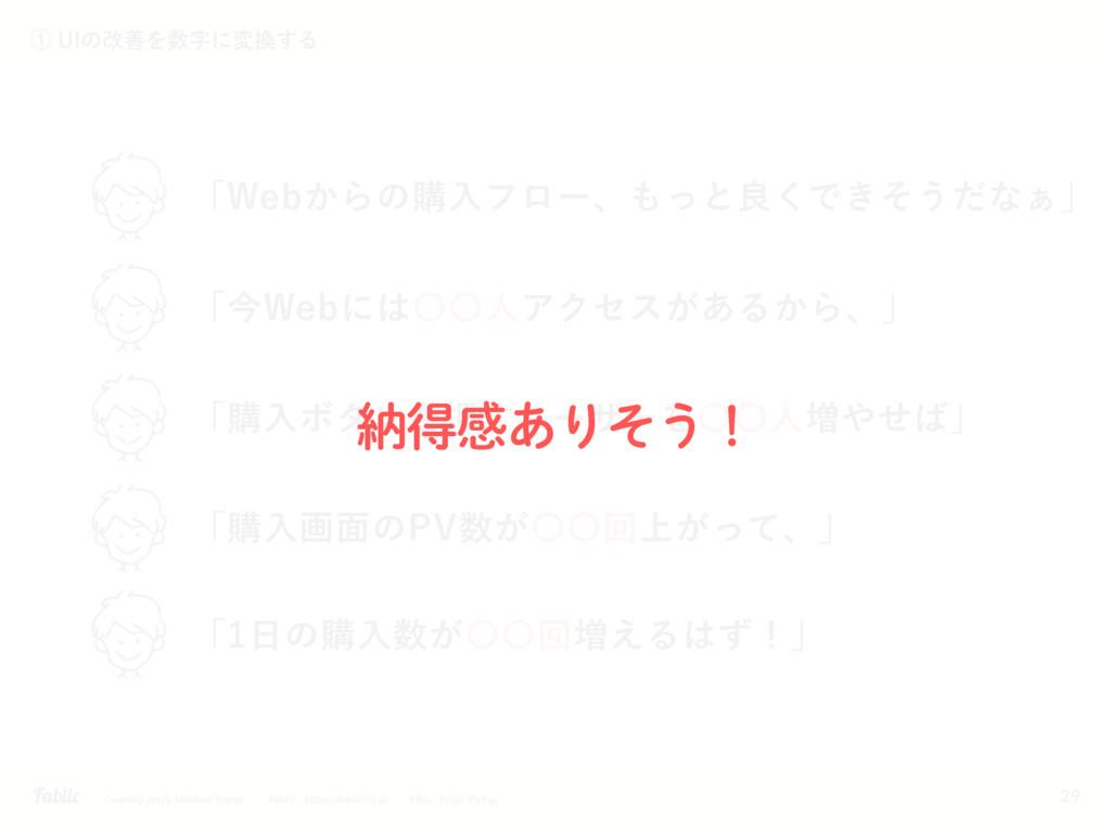 29 ᶃ6*ͷվળΛʹม͢Δ ʮ8FC͔Βͷߪೖϑϩʔɺͬͱྑ͘Ͱ͖ͦ͏ͩͳ͊ʯ ʮ...