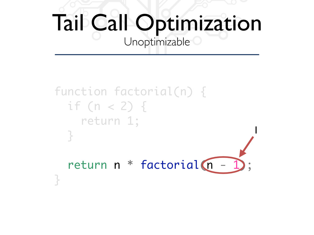 Tail Call Optimization Unoptimizable function f...