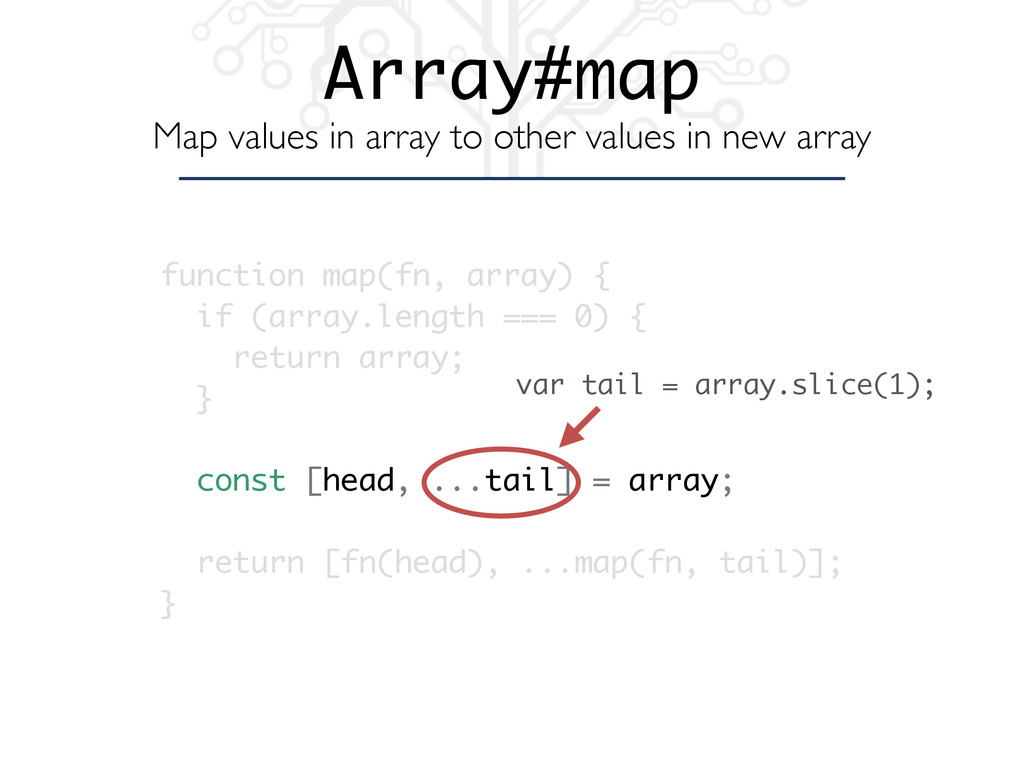 function map(fn, array) { if (array.length === ...