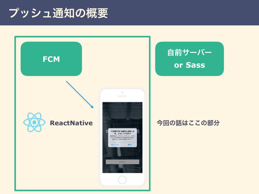 ϓογϡ௨ͷ֓ཁ ࣗલαʔόʔ or Sass ReactNative ࠓճͷ͜͜ͷ෦...
