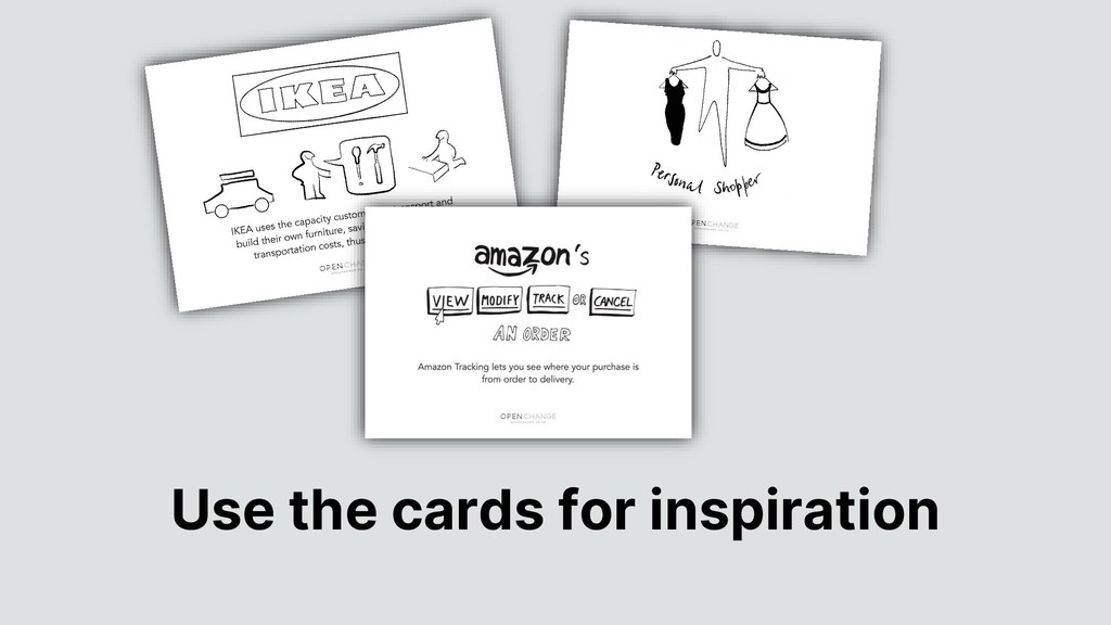 Use the cards for inspiration