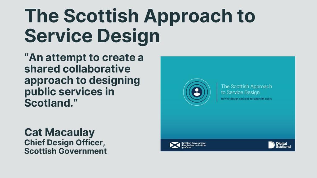 "The Scottish Approach to Service Design ""An att..."