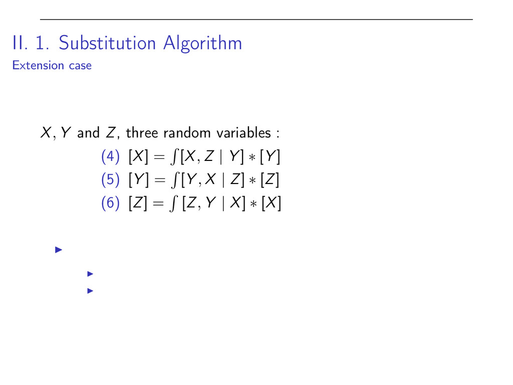II. 1. Substitution Algorithm Extension case X ...
