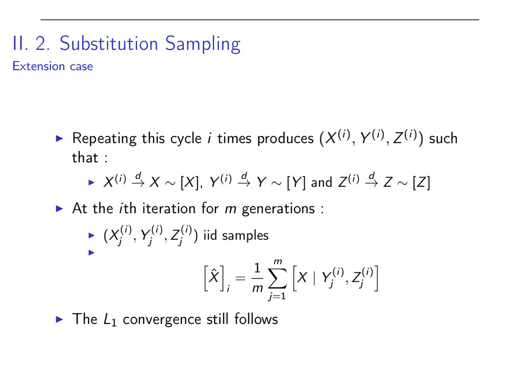 II. 2. Substitution Sampling Extension case I R...