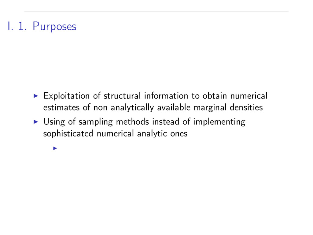 I. 1. Purposes I Exploitation of structural inf...