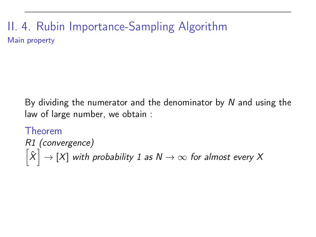 II. 4. Rubin Importance-Sampling Algorithm Main...