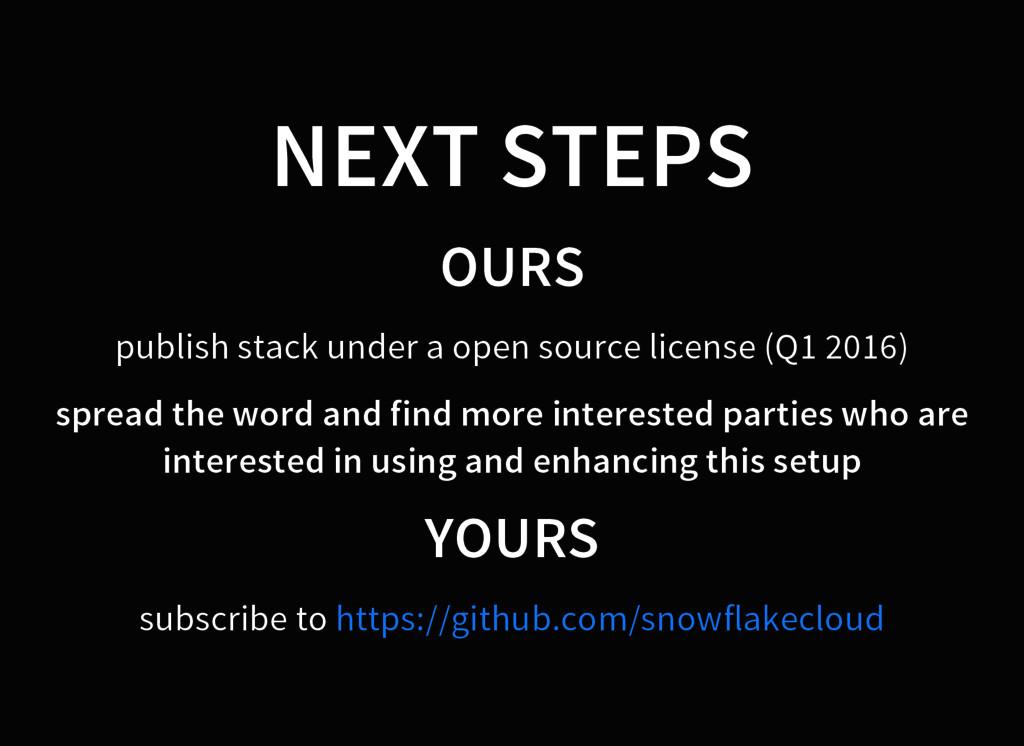 NEXT STEPS OURS publish stack under a open sour...