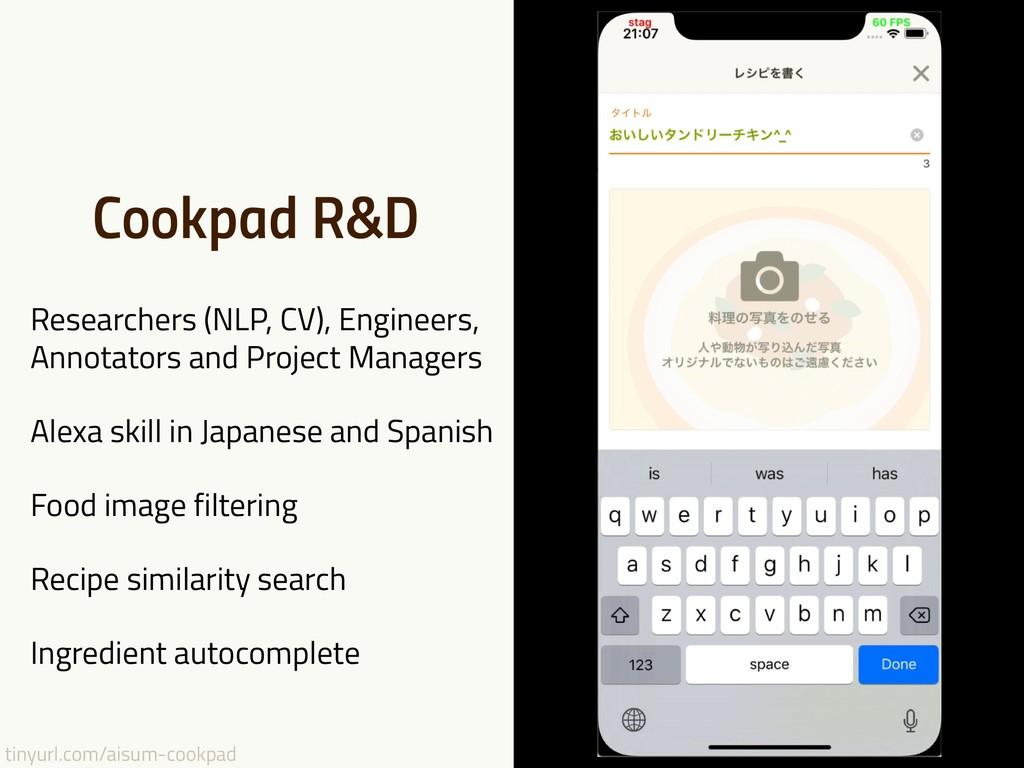 tinyurl.com/aisum-cookpad Cookpad R&D Researche...