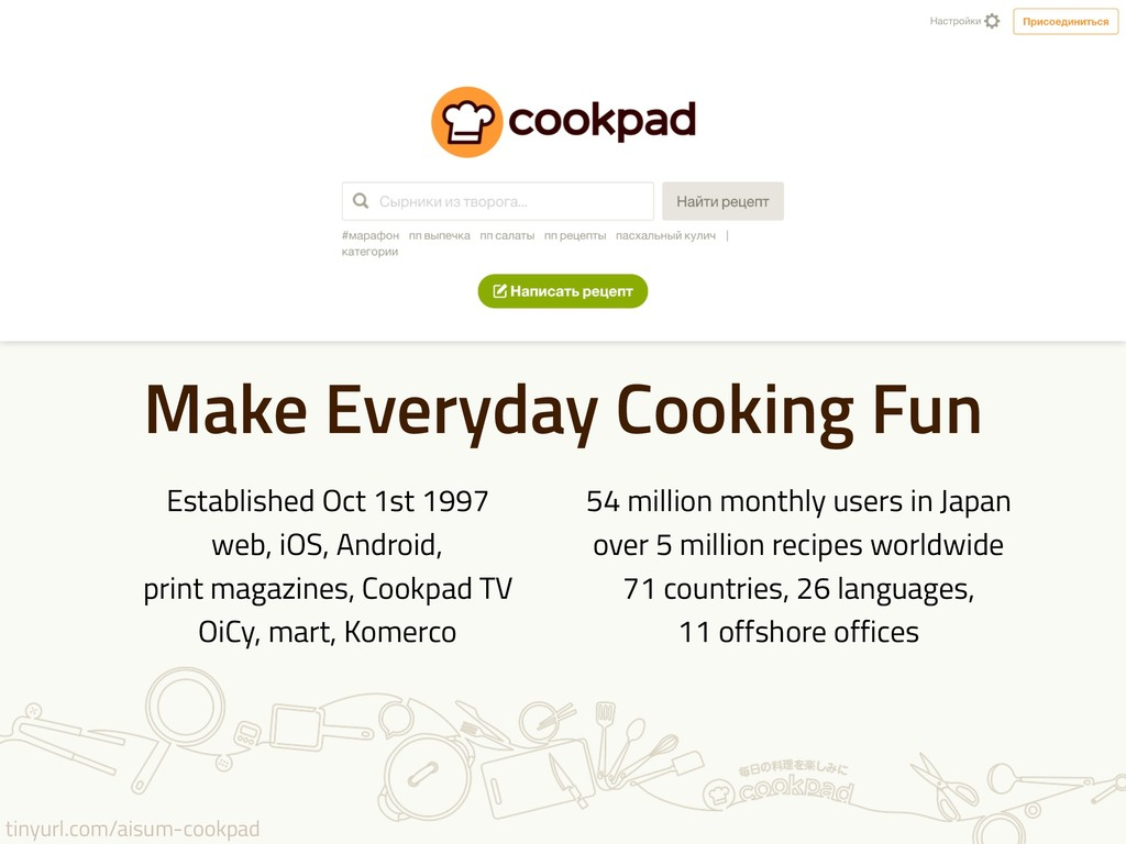 tinyurl.com/aisum-cookpad Make Everyday Cooking...