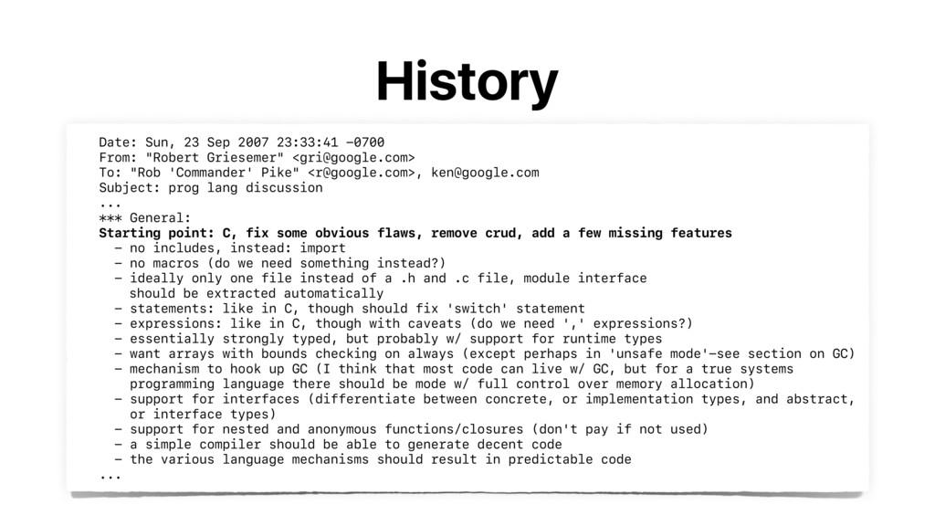 History Date: Sun, 23 Sep 2007 23:33:41 -0700 ...
