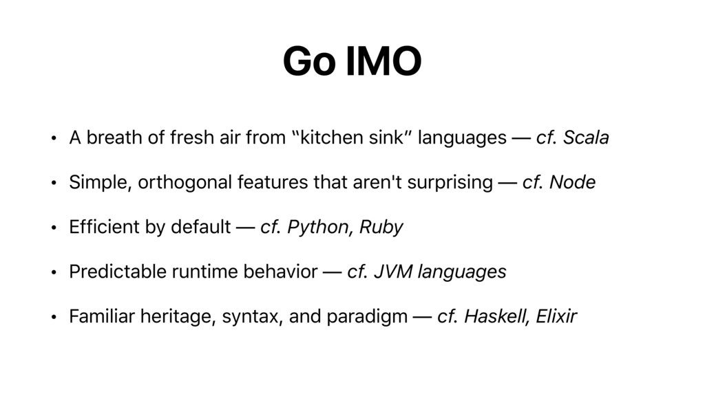 "Go IMO • A breath of fresh air from ""kitchen si..."