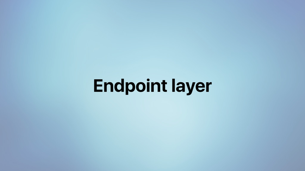 Endpoint layer