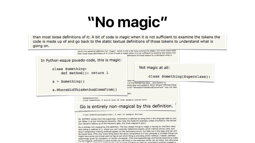 """No magic"""
