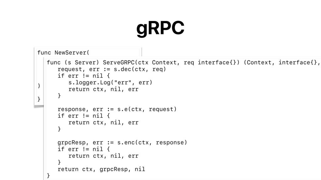 gRPC func NewServer( e endpoint.Endpoint, dec D...