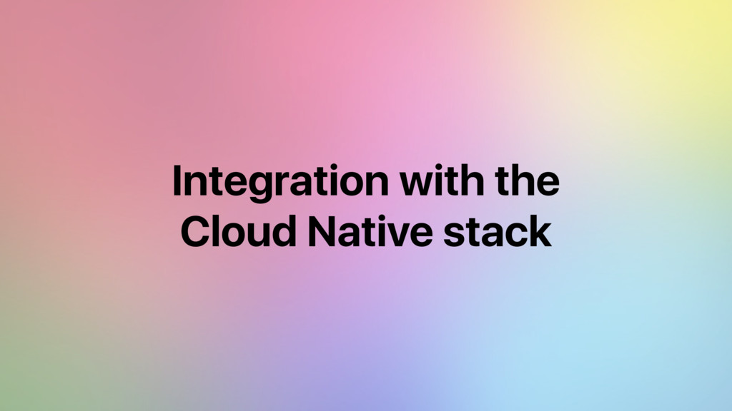 Integration with the