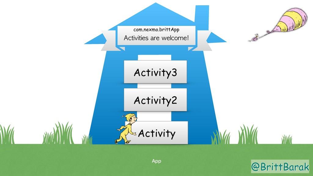 @BrittBarak App Activities are welcome! com.nex...