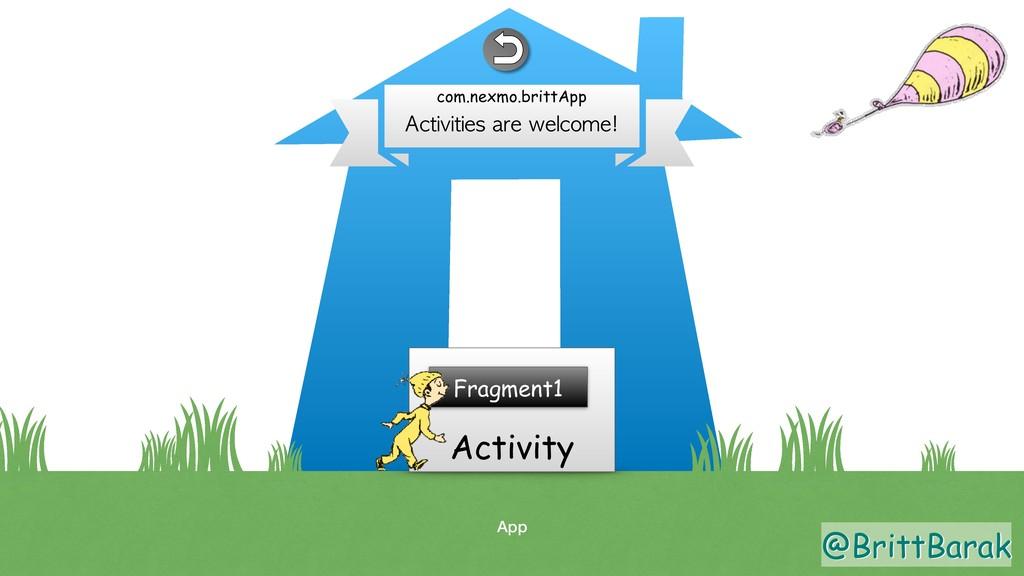 @BrittBarak App Activity Activities are welcome...